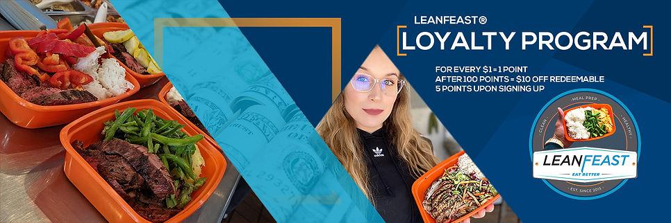 LeanFeast Loyalty Program Sticker 8 x 2.