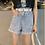 Thumbnail: High waist Short denim