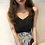 Thumbnail: Knit camisole top with glitter