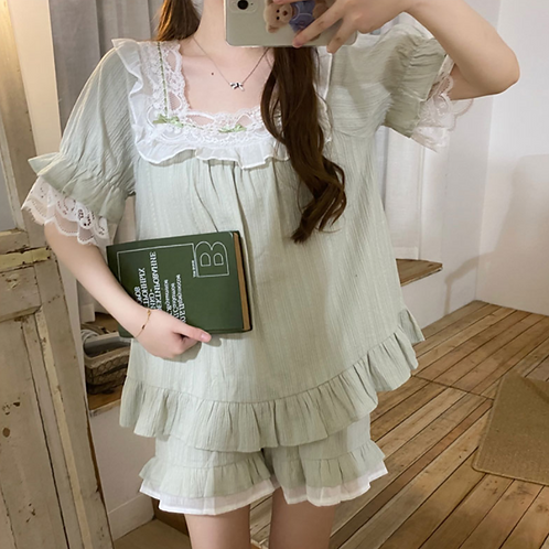 Lace pajama - 3 pieces