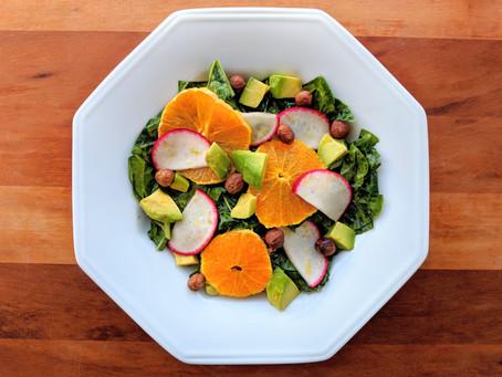 Radish, Orange & Kale Salad