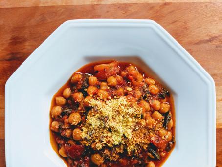 Spinach, Chickpea & Tomato Stew