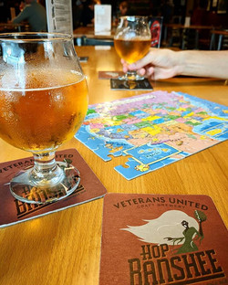 Enjoying some good beer along with games