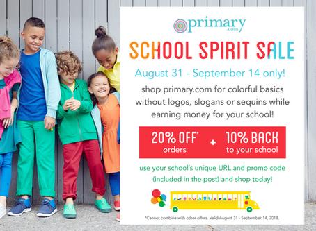 Primary School Spirit Sale!