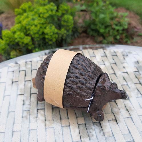 Hedgehog Cast Iron Key Keeper. Approx 10cm x 8cm