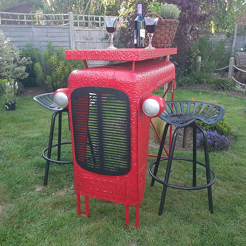 Vintage Tractor Style Bar Table & Matching Stools
