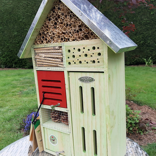 Multi Insect Hotel. Approx 48cm x 31cm x 14cm