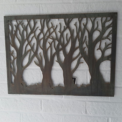 Woodland Scene Wall Art. Approx 53cm x 39cm