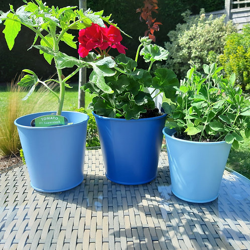 Shades of Blue. Zinc Pot Trio