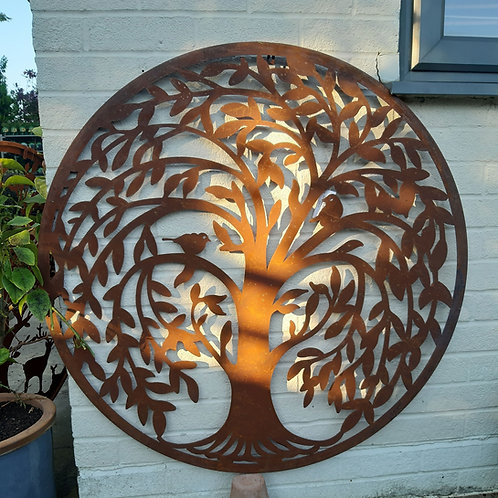 Corten Steel Wall Art - Tree of Life