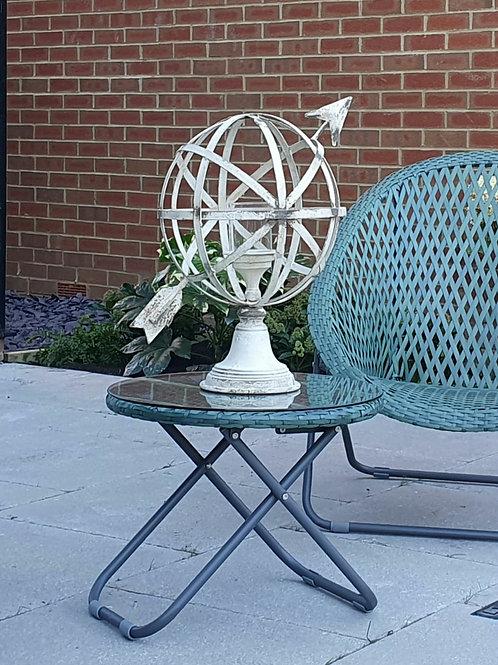 Armillary table centrepiece - antique cream