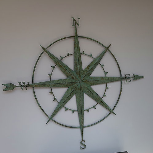 Green Bronzed Finished Compass  Design Wall Arts