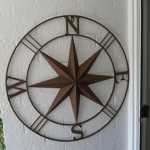 Compass Wall Art ( rust effect)