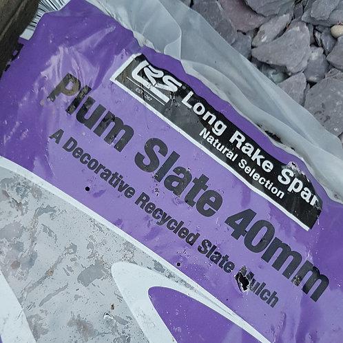 Plum Slate - 40mm chips 20kg bag