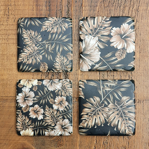 Dark Print Coasters