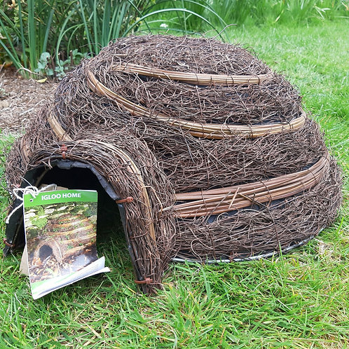 Hedgehog Igloo House. Approx 18cm x 50cm