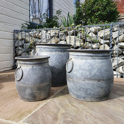 Zinc Ollam pots - Set of Three