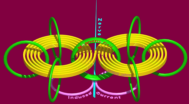 3D Coil Magnetic Field and Induced Curre