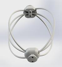 Jaltron TMS Triple Halo Coil, 3D Rendered Image