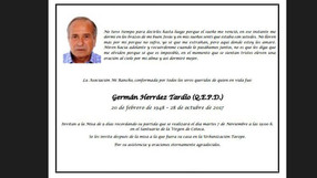 Martes 7 despedida Germán