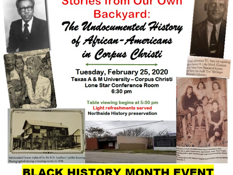Stories From Our Own Backyard: The Undocumented Story of African Americans in Corpus Christi