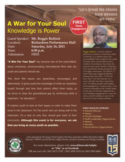 war for your soul flyer