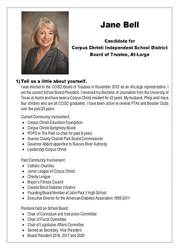 JANE BELL General Information Responses(