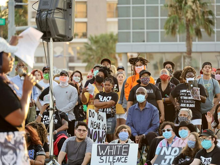 BLM Protestors March Along the Corpus Christi Bayfront