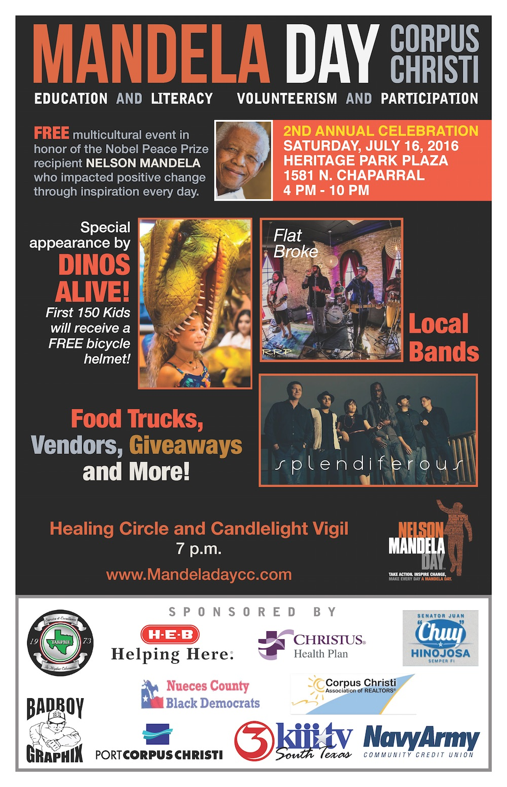 2016 Mandela Day Sponsor Flyer