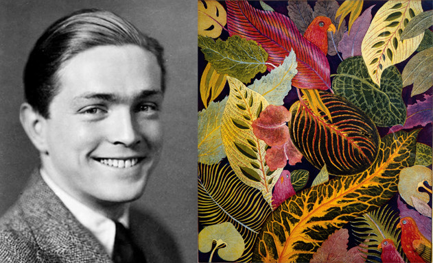 Left: Ferdinand Finne, 1935, age 25; right: Finne's World of Leaves