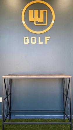 WJ Golf Sign