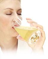 Boire de la pulpe d'aloe vera