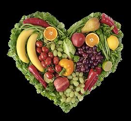 Coeur de fruits et légumes
