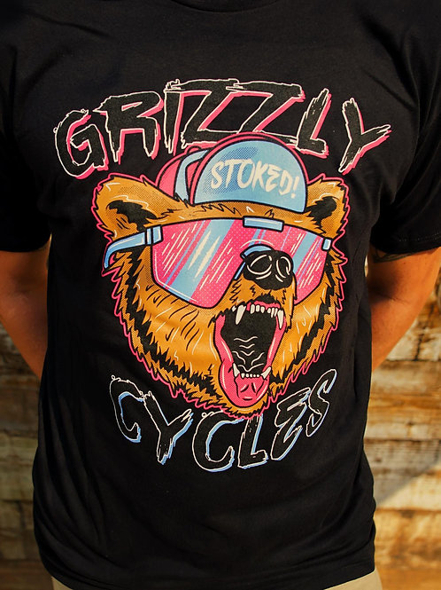 Grizzly Cycles Party Bear T-shirt