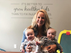 Dr. Rachel and her twin girls Maddie and Charlotte