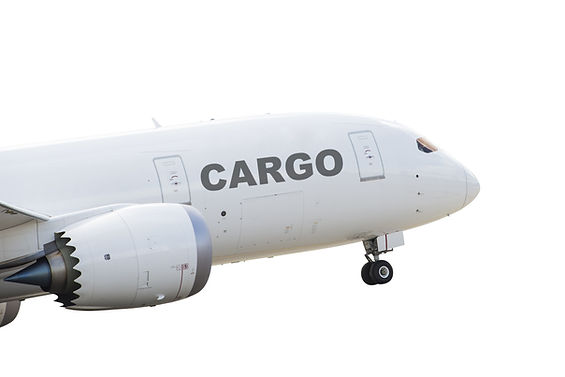 Cargo airplane taking off.jpg