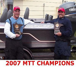 Pat Burch and Jason Betzler winners of the 2007 MTT walleye championship