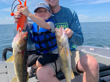 July is here and it'shot weather and a hot bite on Mille lacs! We are still catching 30-50 walleyes