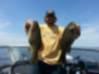 Mille Lacs Fishing guide 2 big smallmouth bass