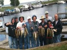 Mille Lacs fishing guides team up with burchs guide service for this big group