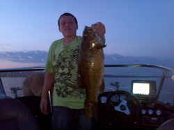 Preston with a nice 21 inch mille lacs smallie