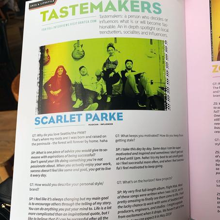 GRNTEA Magazine Labels Me a Tastemaker!