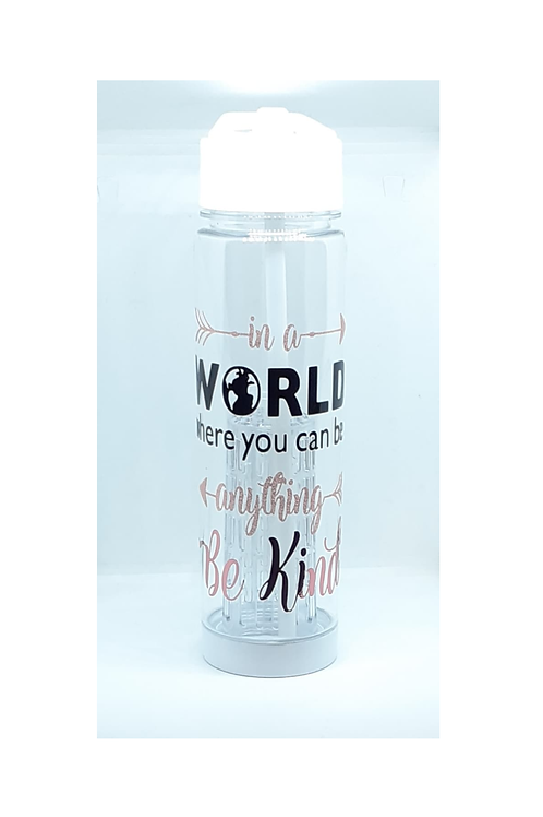 Be Kind Quote Tritan 740ml Water Bottle White