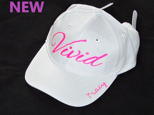 White personalised Vivid cap