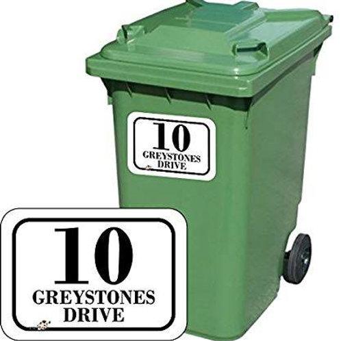 Wheelie Bin Address Labels