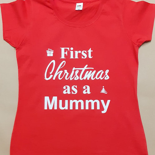 Personalised Christmas T-Shirt for Mummy