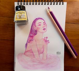purple happy d artist inspired watercolo