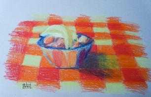uni oil pastels fruits and tableclothe.j