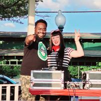 Downtown Grapevine Bastille Day Celebration with John Bush! (photo by Liz Bush)