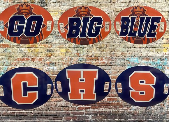 """Oval Cheer Signs 22"""" x 17"""""""